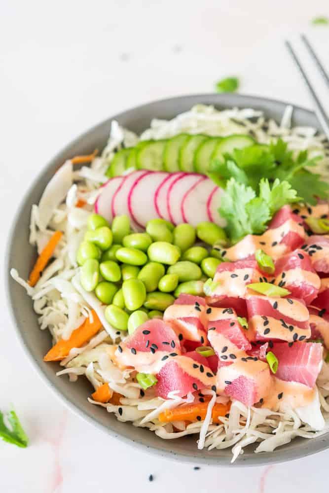 Spicy Ahi Tuna Poke Bowl